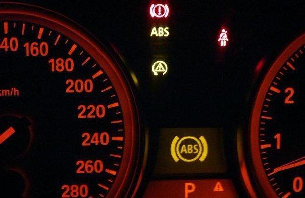 периодически загорается значок неисправности abs на ford