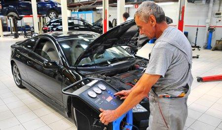 диагностика и заправка кондиционера автомобиля skoda